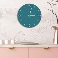 Relógio De Parede Decorativo Premium Ágata Com Números Em Relevo Médio