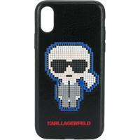 Karl Lagerfeld Capa Para Iphone X/Xs Pixel Karl - Preto