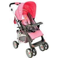 Carrinho De Bebê Lenox Kiddo Com Alça Reversível E Bandeja Zap Rosa