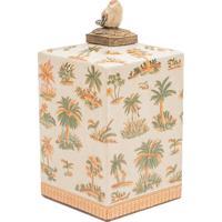 Vaso Decorativo De Porcelana Le Palmier