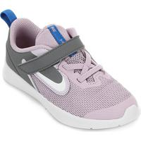 Tênis Infantil Nike Downshifter 9 Velcro Tdv - Unissex-Lilás+Branco