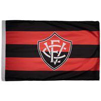 Bandeira Vitória Torcedor Preta E Vermelha