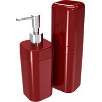Conjunto Para Banheiro Com 2 Unidades Splash Vermelho