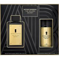 Kit Perfume Masculino The Golden Secret Antonio Banderas Eau De Toilette 100Ml + Desodorante 150Ml - Masculino-Incolor