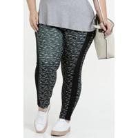 Calça Feminina Legging Estampada Plus Size Luktal