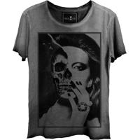 Camiseta Skull Lab Girl Face Cinza