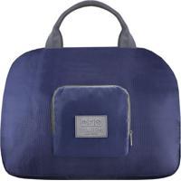 Bolsa De Viagem Dobrã¡Vel- Azul Marinho & Cinza- 41X3Jacki Design