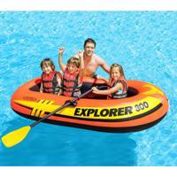 Bote Inflável Explorer 300 (Acessórios) Laranja E Preto 58332 Intex