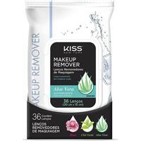 Lenço Demaquilante Kiss New York Makeup Remover Tissue Aloe 36 Unidades - Feminino-Incolor