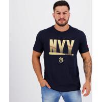 Camiseta New Era Mlb New York Yankees Brand Marinho