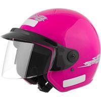 Capacete Moto Aberto Liberty Three 60 Rosa - Pro Tork