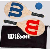 Kit De Frescobol Wilson Beach Sport Wood