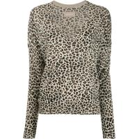Zadig&Voltaire Brume Leopard Print Pullover - Marrom