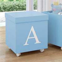 Caixa Organizadora Infantil Azul Personalizada Letra B Azul