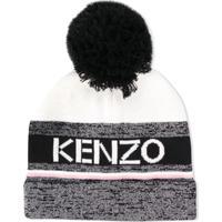 Kenzo Kids Teen Knitted Beanie Hat - Preto