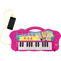 Barbie Teclado Fabuloso Com Função Mp3 - Fun Divirta-Se - Kanui