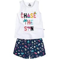 Pijama Infantil Menina Com Estampa Brilha No Escuro Hering Kids