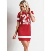 Vestido Modelo Esportivo Vermelho