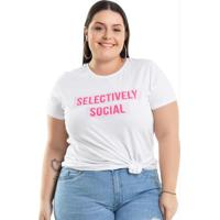 a88aa13ac2 Posthaus  Blusa Selectively Social Branco Miss Masy Plus