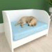 Casinha Caminha Para Cachorro Cão Sofazinho Mdf Branco
