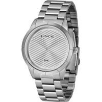 Relógio Lince Clássico Estiloso Feminino - Feminino-Prata
