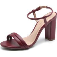 Sandália Dafiti Shoes Tiras Roxa