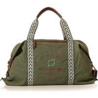 Bolsa Blue Bags Weekend Reciclada Bordado Fogo Feminina - Feminino-Verde