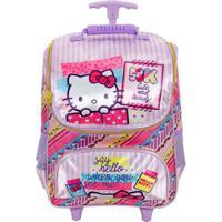 Mochila Infantil De Rodinhas Xeryus Hello Kitty Washi Feminina - Feminino-Lilás