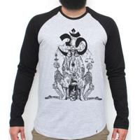 25d263235d El Cabriton  Holy Mountain - Camiseta Raglan Manga Longa Masculina