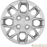 Calota Aro 14 Ford - Grid - Ka/Ka+ 2014 Até 2016 - Cubo Baixo - Prata - Cada (Unidade) - 342Cb