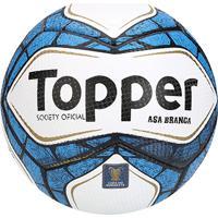 Netshoes  Bola Futebol Society Topper Asa Branca - Unissex 1fc1bee90199d