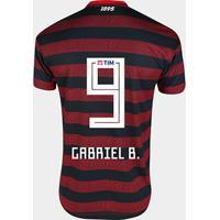 Camisa Flamengo I 19/20 Nº 9 - Gabriel B. Jogador Adidas Masculina - Masculino