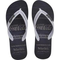 Chinelo Coca Cola Vintage Masculino - Masculino-Marinho