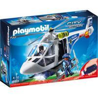 Playmobil - City Action - Helicóptero Da Polícia - 6874 - Sunny