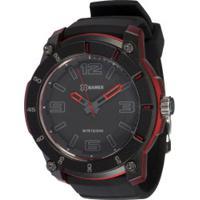 Relógio Analógico X Games Xmpp0028 - Masculino - Preto/Vermelho