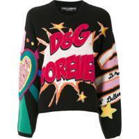 Dolce & Gabbana Pullover De Tricô Jacquard - Preto