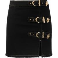 Versace Jeans Couture Minissaia Jeans Com Fivela - Preto