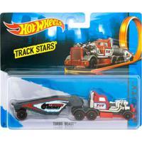 Carrinho Hot Wheels - Track Stars - Turbo Beast - Vermelho - Mattel