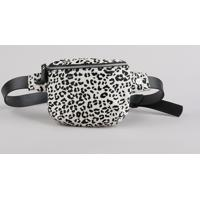 Pochete Feminina Triya Estampada Animal Print Off White