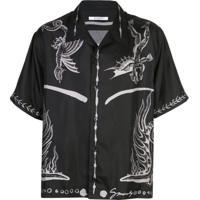 Givenchy Camisa Com Estampa De Dragão - Preto