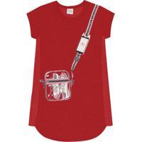 Vestido Infantil Bolsinha Vermelho