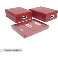 Jogo De Caixas Paper- Vermelho Escuro- 2Pçs- Boxboxmania