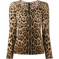 Dolce & Gabbana Blusa Animal Print - Neutro