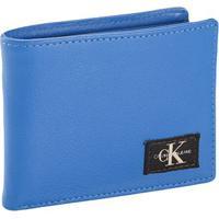 Carteira G Masc Couro E Porta Cartão Ck - Azul Médio - Foto Errada Carteira G Masc Couro E Porta Cartão Ck - Azul Médio - U