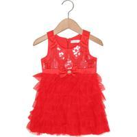 Vestido Lilica Ripilica Menina Vermelho
