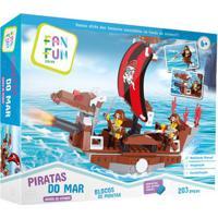 Blocos De Montar - Piratas Do Mar - Barco De Ataque - Fanfun