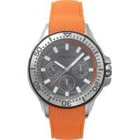 Relógio Nautica Masculino Borracha Laranja - Napauc002