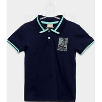 Camisa Polo Infantil Milon Estampa Marinheiro Masculina - Masculino