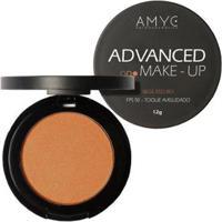 Pó Compacto Fps 50 Advanced Make Up Amyc Uniformizador Bege Escuro 12G - Unissex-Incolor