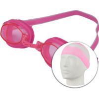 Kit De Natação Speedo Swim 3.0 Com Óculos + Touca + Protetor De Ouvido - Adulto - Rosa